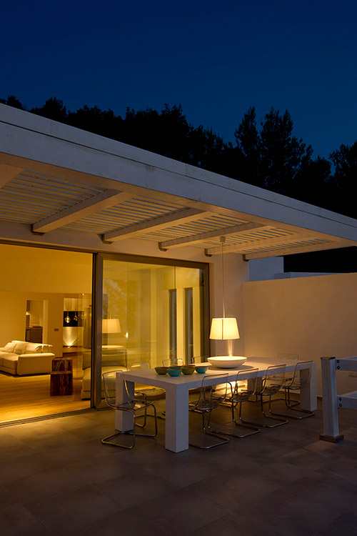 Ligthing project Cala tarida Ibiza (exterior view) Table