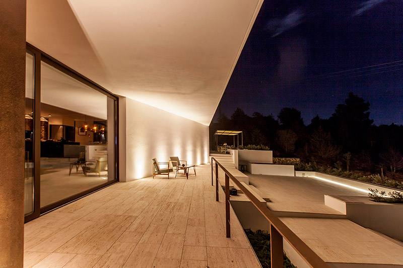 Ligthing project Can cordeta Ibiza (exterior view) terrase