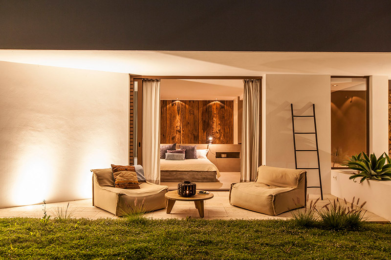 Ligthing project Can cordeta Ibiza (exterior view) chill garden