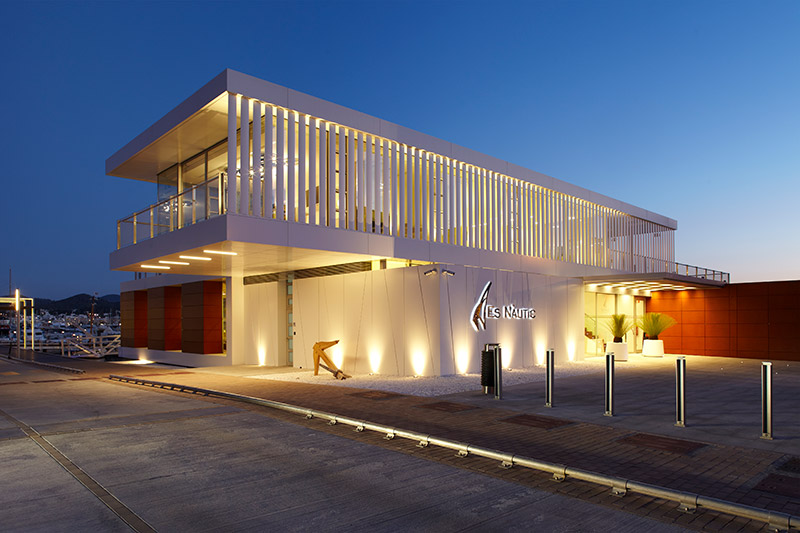 Ligthing project Es nàutic Ibiza (exterior view)